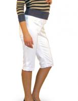 Baltos kelnės - bridžai nėštukei TIN