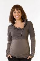 Marškiniai - palaidinė nėštukei DAFFY cinamono, slyvų / XL