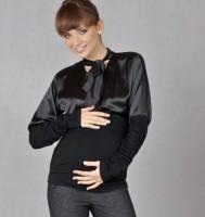 Elegantiška juoda palaidinė nėščiai GOA Classic