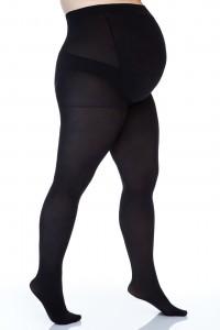 Pėdkelnės apkūnioms nėščiosioms Size+ 3D 50den (microfibra) / mocca, juoda