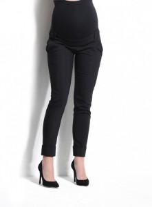 Klasikinės 7/8 ilgio kelnės su kantu dirbančiai nėštukei FEROX Black / S