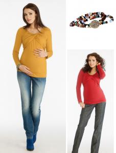 Palaidinė nėščiai - maitinančiai LADA raudona, geltona