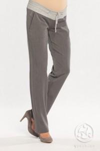 Klasikinės minkšto audinio tiesios kelnės nėštukei LIMON grey / S XL