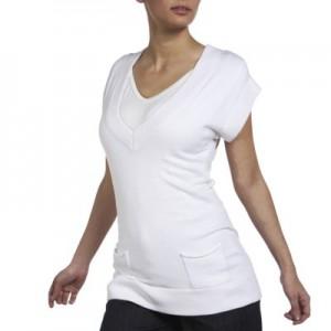 Megzta tunika - palaidinė nėščiai / juoda, balta