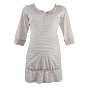 Pilka pižaminė tunika nėštukei - maitinančiai JOY