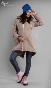 Stilinga žieminė striukė nėštukei DELFINA (pritaikyta dėvėti ir po nėštumo)