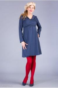 Medvilninė suknelė nėščiai - maitinančiai SIENNA Blue melange