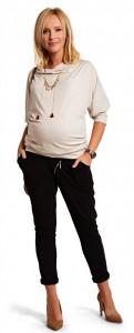 Stilingos kelnės nėščiai CITY Black