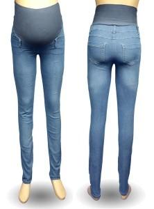 Itin tamprūs džinsai aukštoms nėštukėms BLUE Long