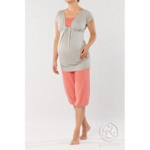 Pižama nėščiai - maitinančiai FERIA coral / XS