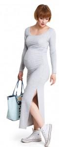 Stilinga maxi suknelė nėščiai LONG RELAX Melange / XL XXL