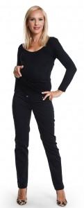 Elegantiškos kelnės nėščiai SLIM Black