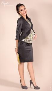 Elegantiškas sijonas nėščiai pieštuko silueto BLANCA / grafito S M, juoda XL