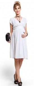 Balta suknelė nėščiai - maitinančiai KISS KISS White