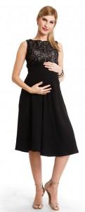 Juoda proginė suknelė nėščiai - maitinančiai LOVIE Black