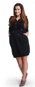 Šilta suknelė nėščiai - maitinančiai CHILLOUT Black / S