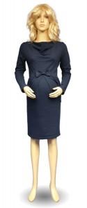 Elegantiška medvilninė suknelė nėščiai VICTORIA indigo melange / L