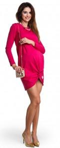 Stilinga medvilninė tunika - suknelė nėščiai ir maitinančiai TWIST ME berry
