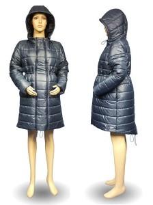 Stilinga šilta universali žieminė striukė nėštukei GRAZIA navy (pritaikyta dėvėti ir po nėštumo)
