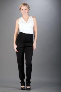 Klasikinės minkšto audinio kelnės dirbančiai nėštukei ANNABEL Black (4 ilgių)