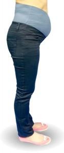 Medvilninės džinso audinio kelnės nėščiai slim COTTON Granat