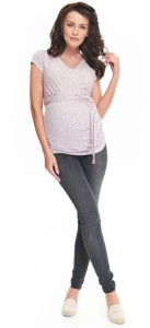 Itin tamprūs džinsai nėštukei skinny ICAN grey