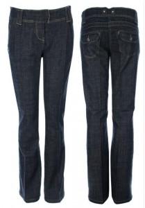 Melsvai pilkos džinso kelnės nėštukei plačios comfort RU Navy / XXL